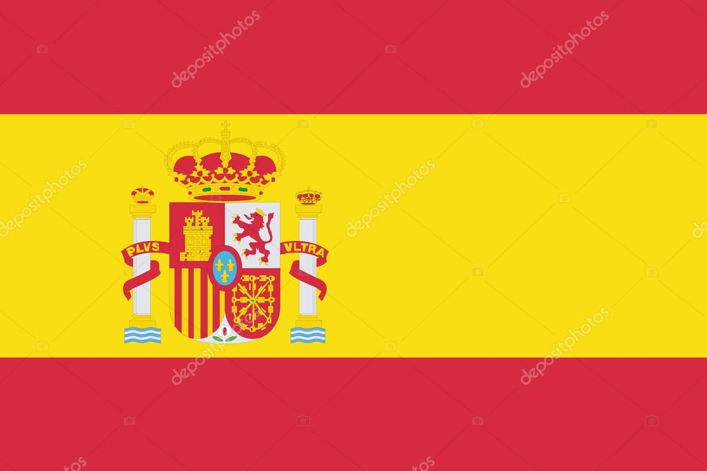 Illustrated Drawing Of The Flag Of Spain Stock Photo C Paulstringer 19199157