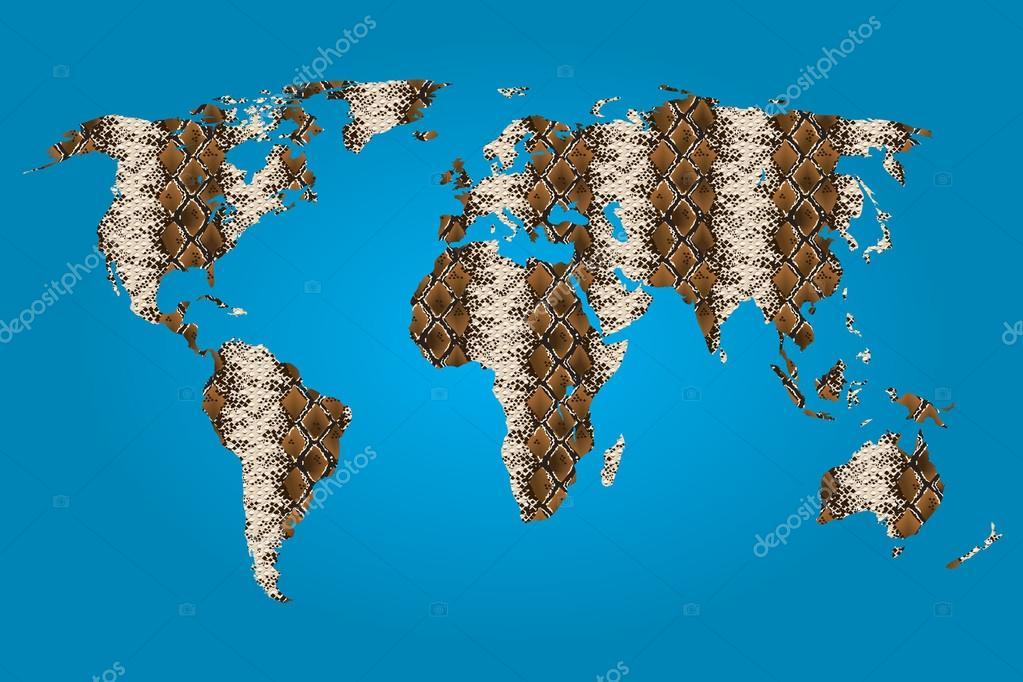 塗りつぶしのテクスチャの世界地図 ストック写真 Paulstringer 50944991