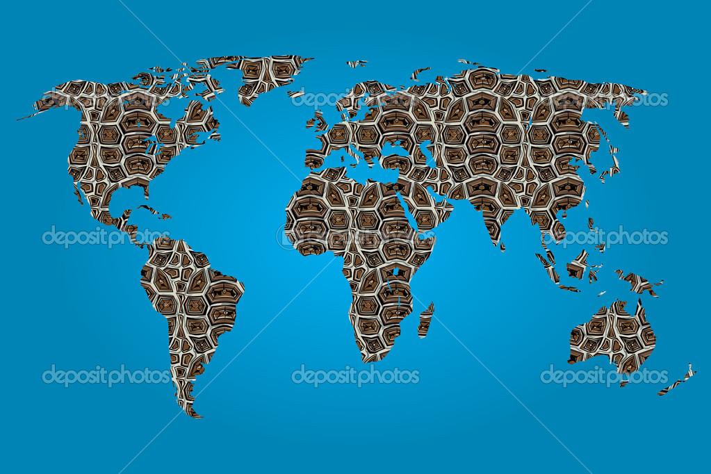 塗りつぶしのテクスチャの世界地図 ストック写真 Paulstringer 50945025