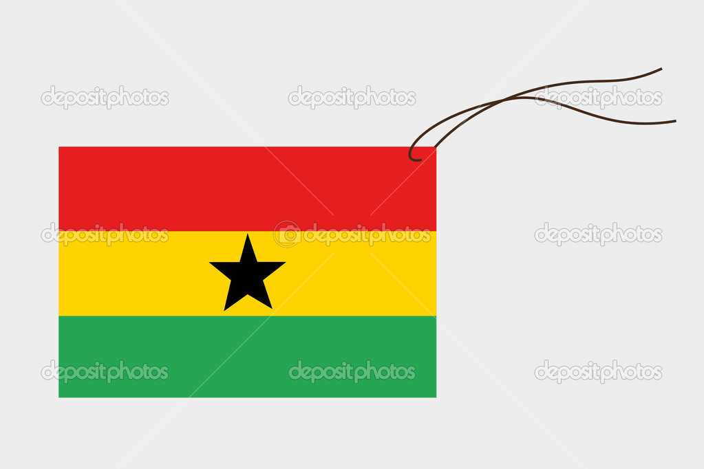 Label with flag of ghana stock vector