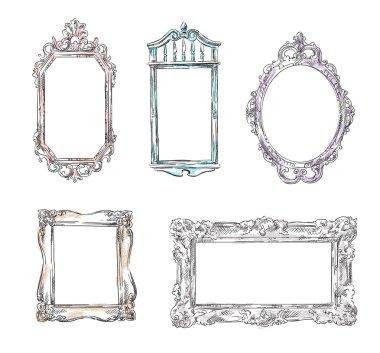 Set of retro frames