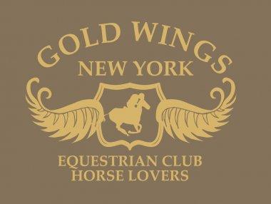 gold wings equestrian art