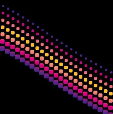 Black background dot line vector art