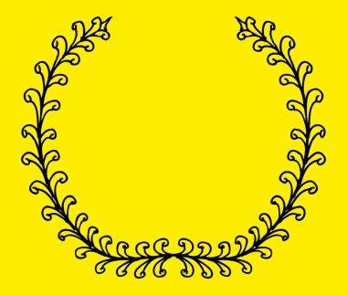 Hand drawn wreath vector art