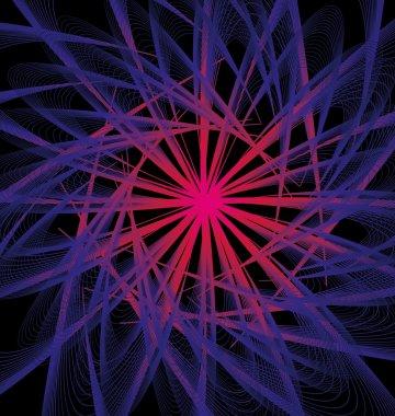 Black background atomic design vector art