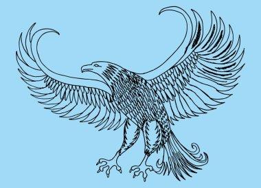 Tattoo tribal birds vector art stock vector