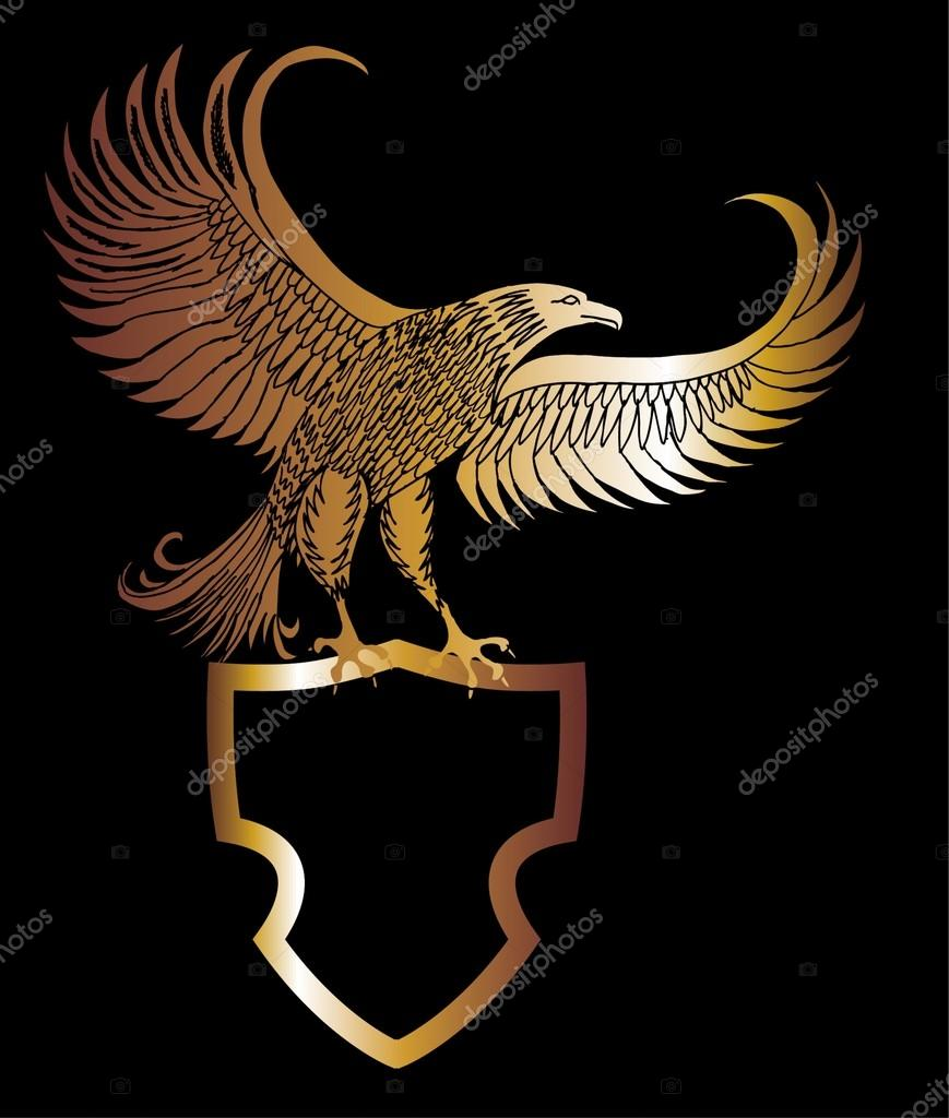 Imperial eagle stock vectors royalty free imperial eagle gold eagle shield vector art royalty free stock illustrations buycottarizona Gallery