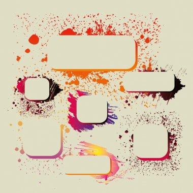 Splashes text box vector art