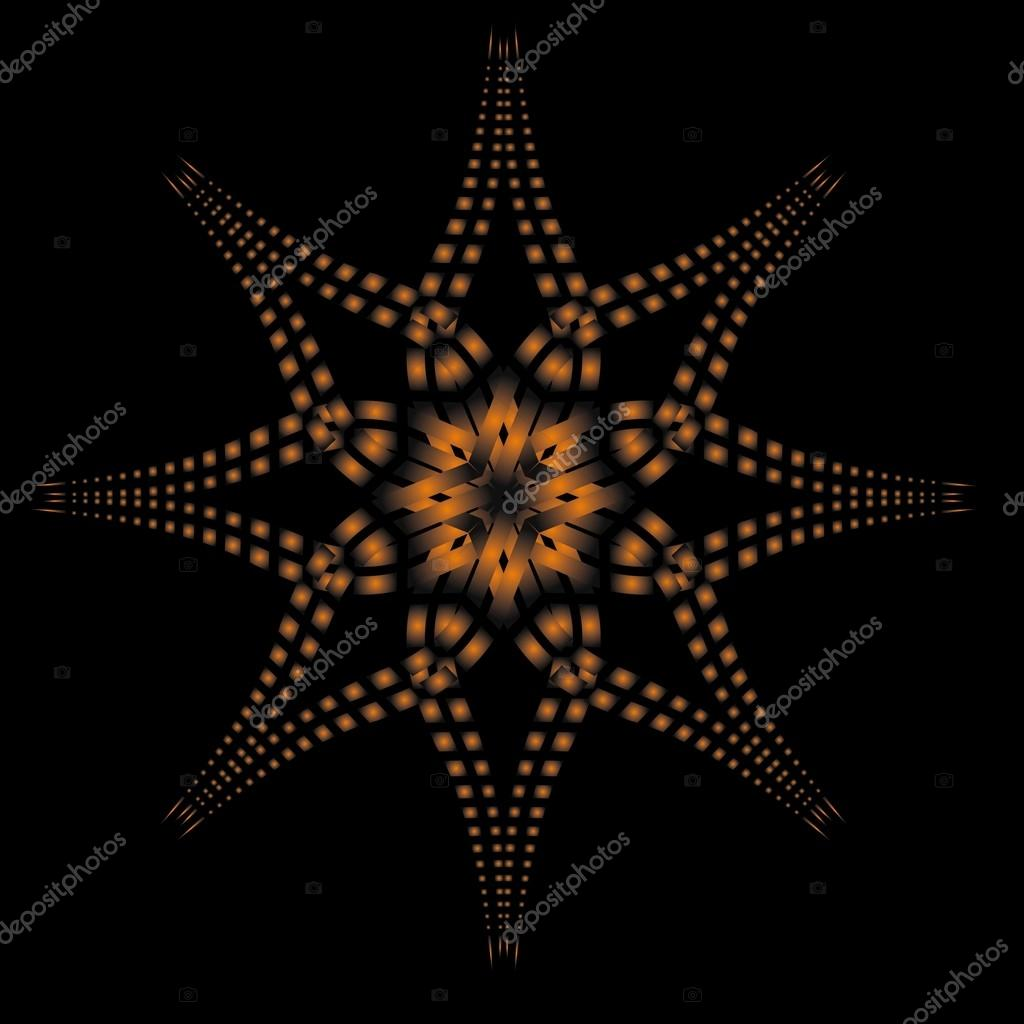 Dot line background vector art