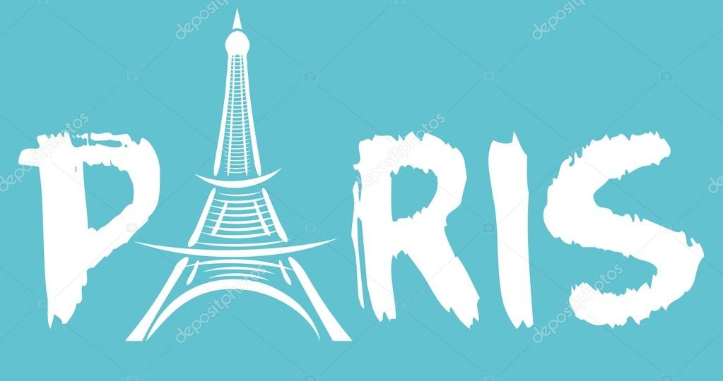 Paris eiffel tower vector art