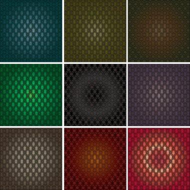 Seamless retro pattern vector