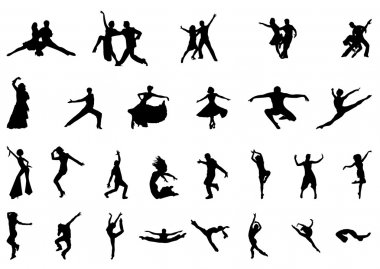 DANCER SILHOUETTE VECTOR SET