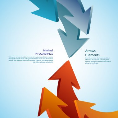 Abstract arrows. Detailed can be used for infographics, graphic or advertise layout vector illustration