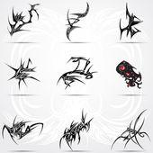 Fotografia set di tatuaggi tribali 9 cool