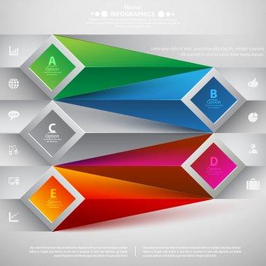 Modern spiral infographics options banner.