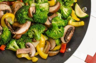 wok stir-fry with vegetables