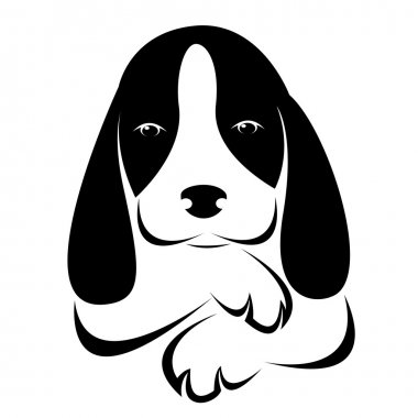 Vector image of an dog on white background clip art vector
