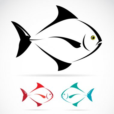 Vector image of an fish