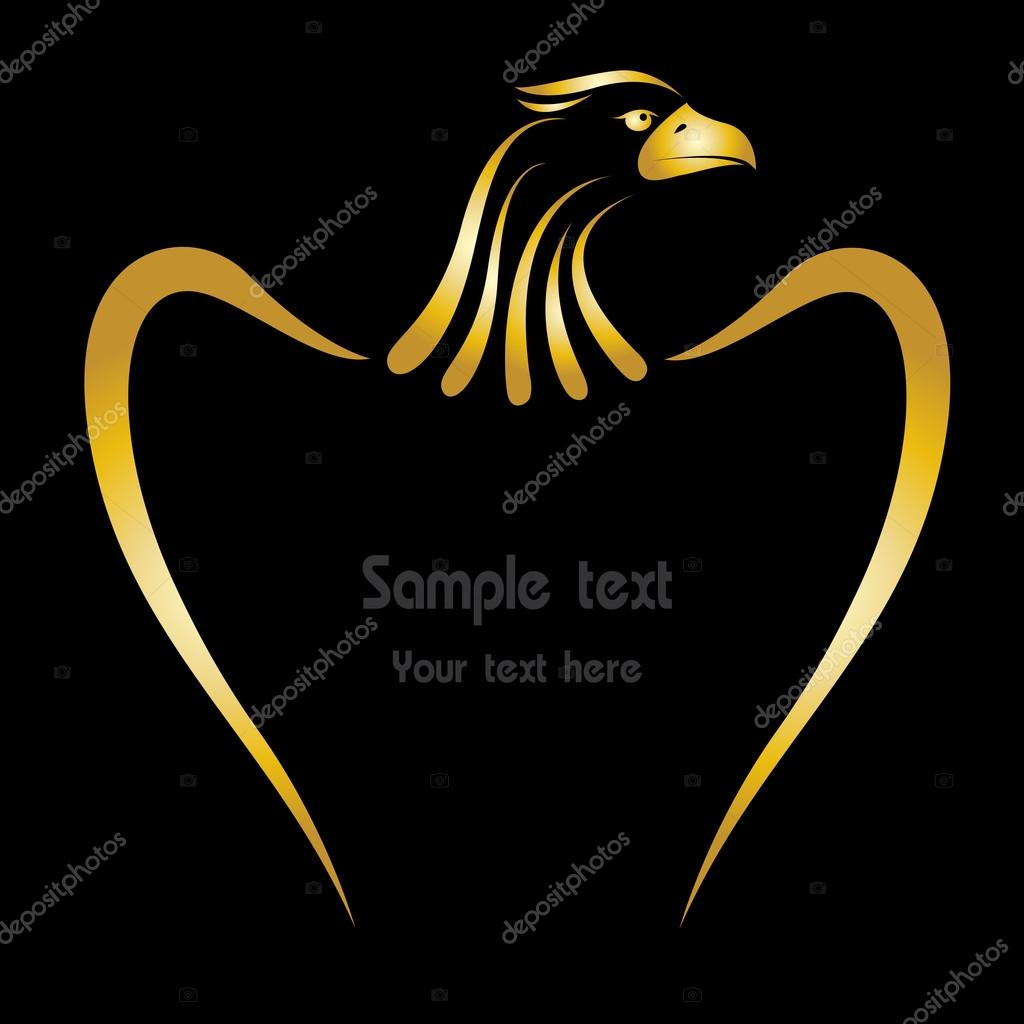 Vector image of an eagle