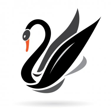 Vector image of swans