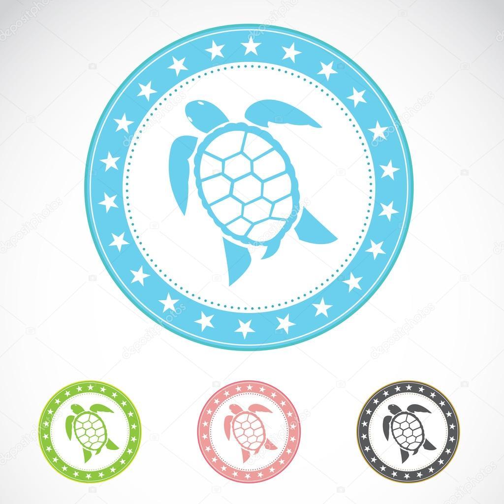 Set of vector turtle label