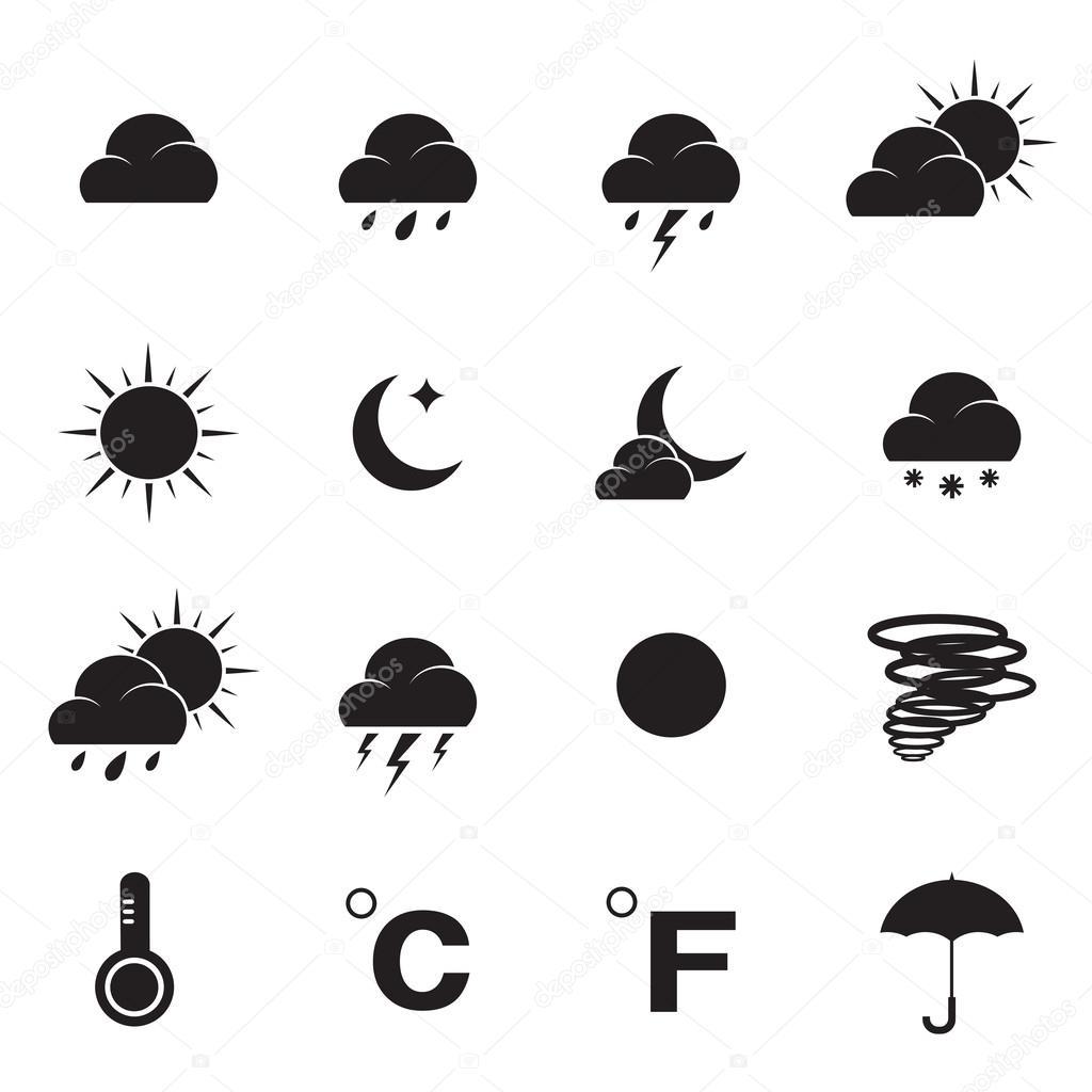 Vector weather icon set