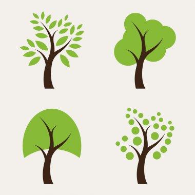 Set of tree icons