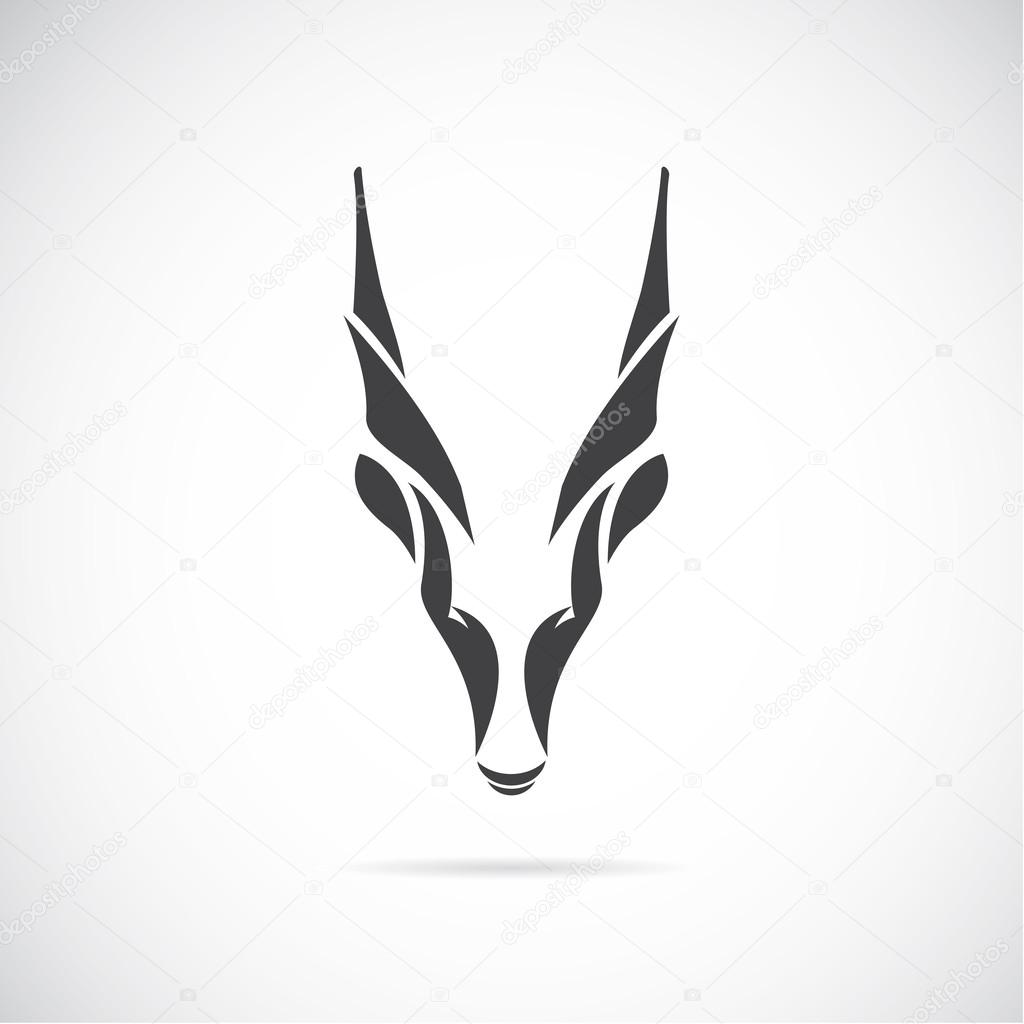 Vector image of an goat head (Goral)