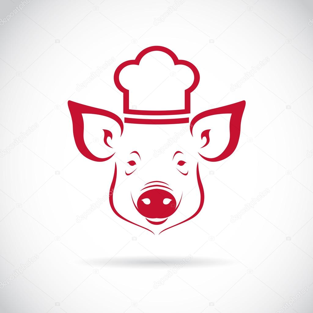 Vector image of an Pig chef