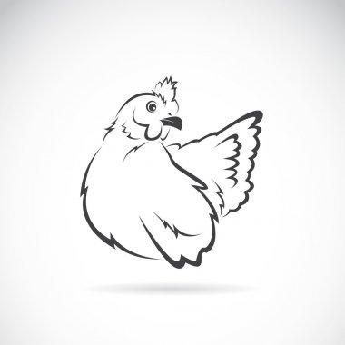 Vector image of chicken