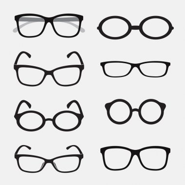Vector group of an Glasses on white background. stock vector