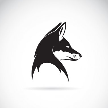 Vector image of an fox head on white background stock vector