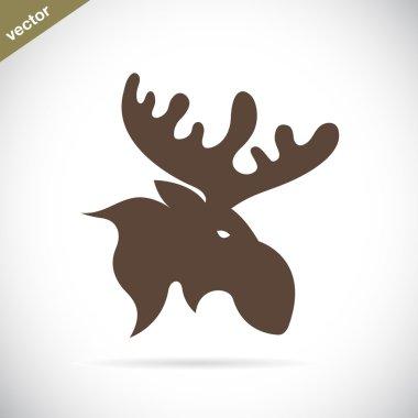 Vector images of moose deer head