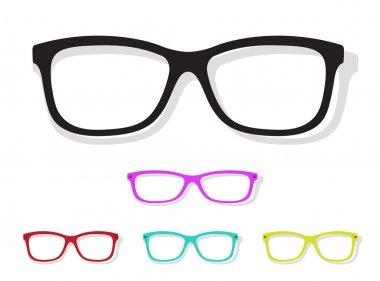 Vector image of Glasses on white background. stock vector