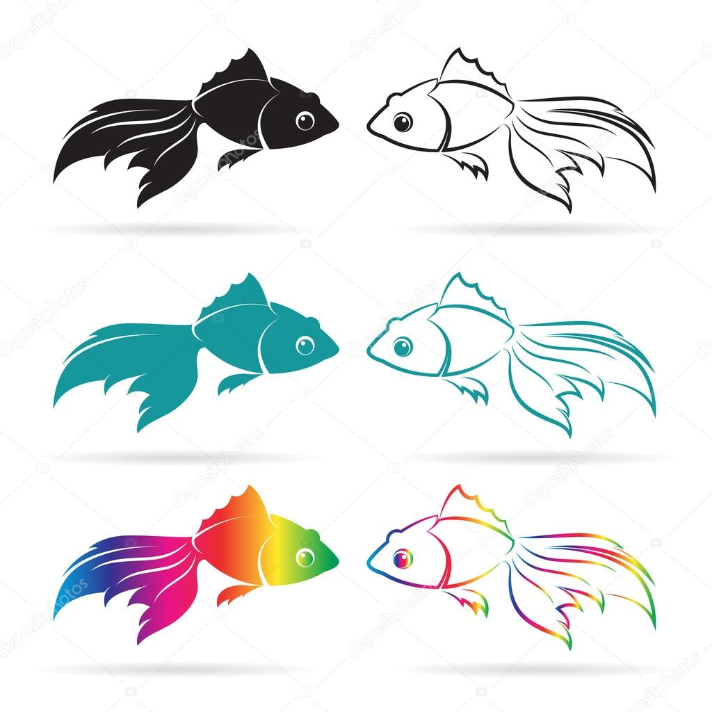 Vector image of an goldfish