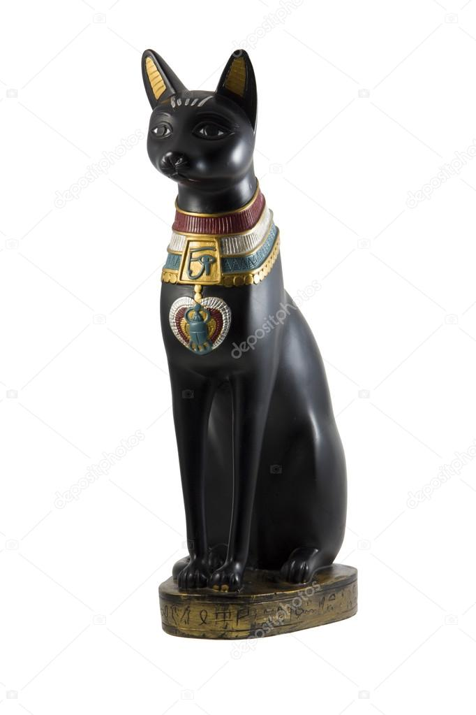 Czarny Kot Egipski Figurka Zdjęcie Stockowe Rysp 13688612