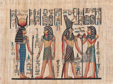 Original egyptian papyrus