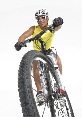 Young mountain biker men.