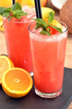 Fruit punch cocktail drinks