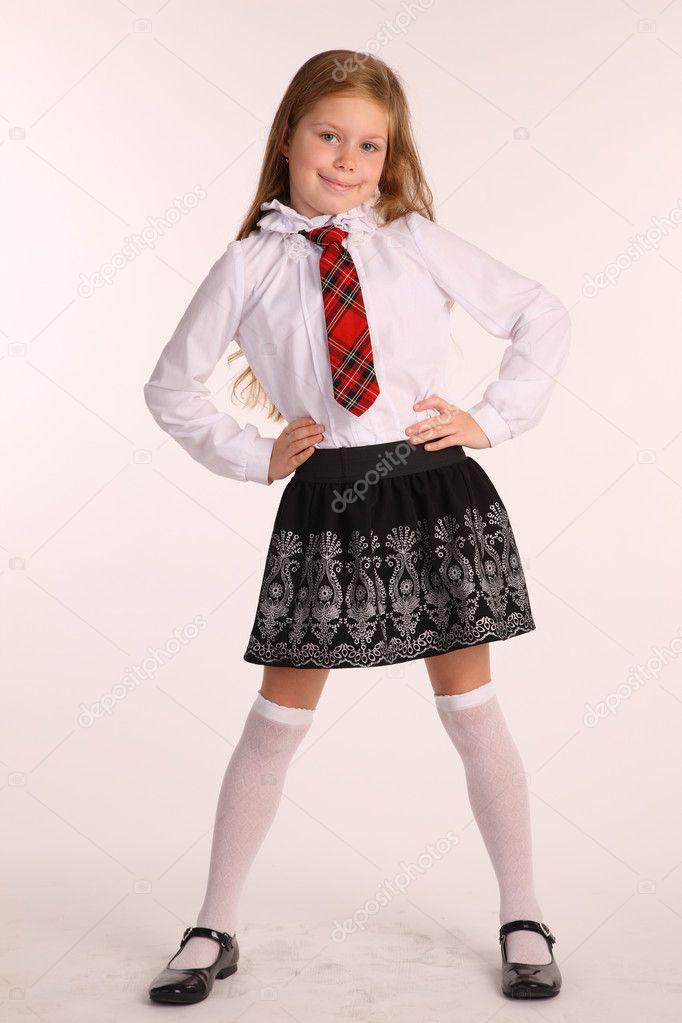 skolflicka i uniform — Stockfotografi © AntonioClemens  13902984 5af049d617a5b