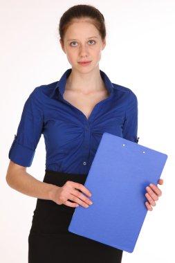 Charming girl secretary.