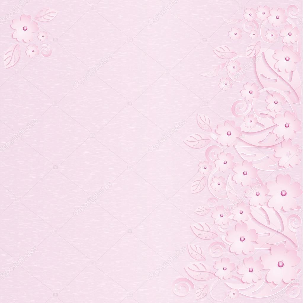 fundo flor rosa com prolas rosas vetores de stock