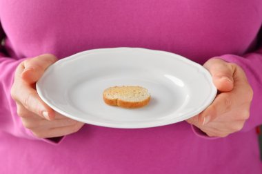 Small portion of food. Conceptual photo.