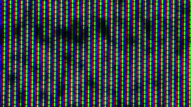 Close Up Of Analog Tv Crt Kinescope Noise Texture Black White