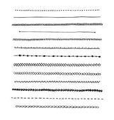 tinta kézzel rajzolt vektoros vonal szegély beállítása.