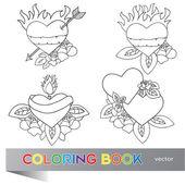 Fotografia Heart Tattoo Design - coloring book