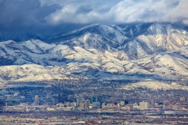 Zoomed in Salt Lake City
