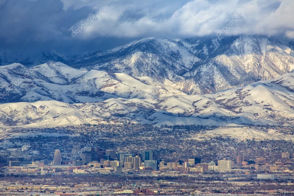 Zoomed in Salt Lake City