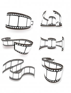 Curved photographic film.