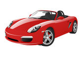 Photo Red sport car